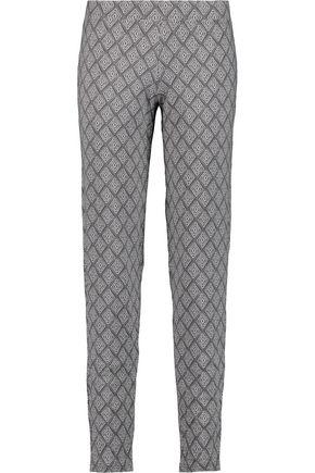 COSABELLA Printed stretch-jersey pajama pants