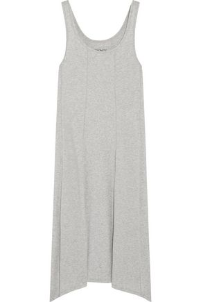 DKNY Draped stretch-cotton jersey dress