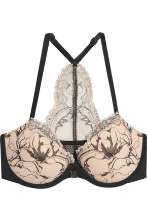 CALVIN KLEIN UNDERWEAR Two-tone corded lace bra