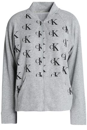 CALVIN KLEIN UNDERWEAR Printed cotton-blend sweatshirt