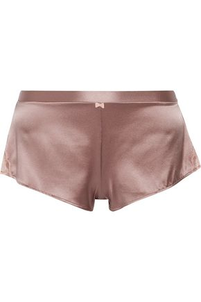 HEIDI KLUM INTIMATES Egyptian Beauty lace-trimmed silk-blend satin pajama shorts
