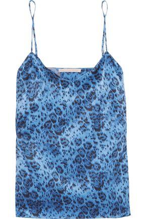 STELLA McCARTNEY Ellie Leaping leopard-print stretch-silk satin camisole