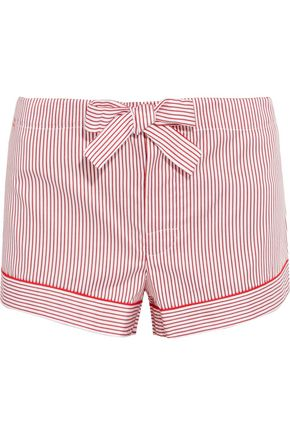 BODAS Striped cotton pajama shorts