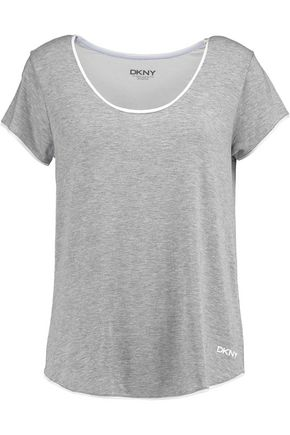 DKNY Two-tone stretch-modal top