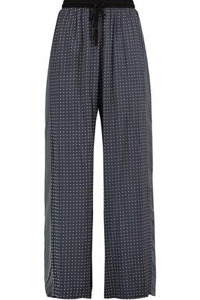 DKNY Printed woven wide-leg pajama pants