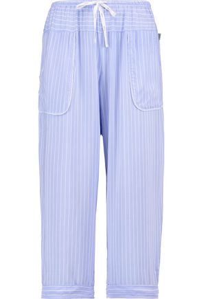 DKNY Cropped printed woven tapered pajama pants