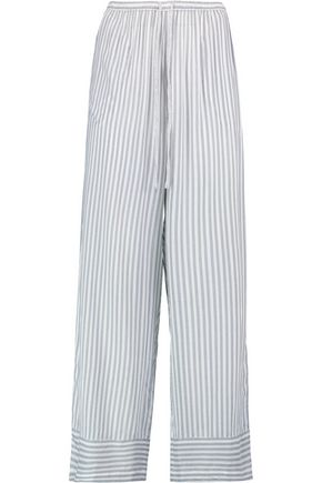 DKNY Striped woven wide-leg pants