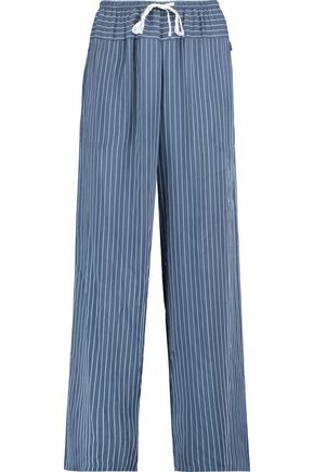DKNY Striped woven straight-leg pants