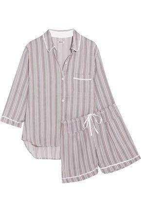 DKNY Striped satin pajama set