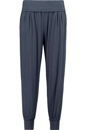 DKNY Gathered stretch-modal skinny pants