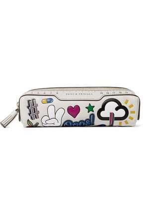 ANYA HINDMARCH All Over Wink Stickers embossed leather pencil case