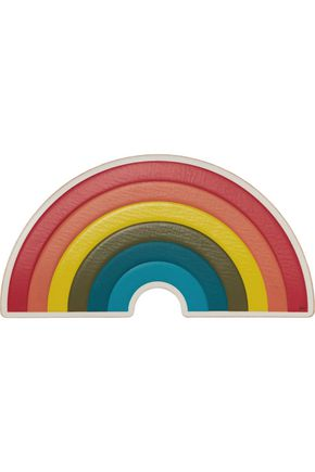 ANYA HINDMARCH Rainbow textured-leather sticker