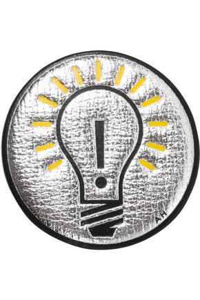 ANYA HINDMARCH Light Bulb metallic textured-leather sticker
