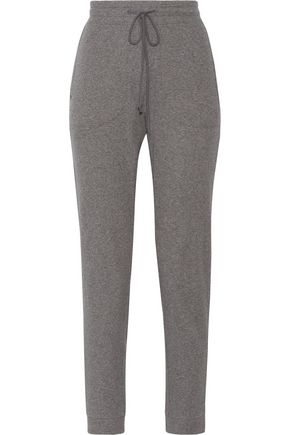 SKIN Ribbed stretch-cotton track pants