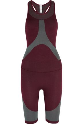 ADIDAS by STELLA McCARTNEY Two-tone stretch jumpsuit