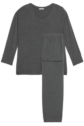 SKIN draped jersey pajama set