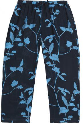 SKIN Cropped floral-print jersey pajama pants