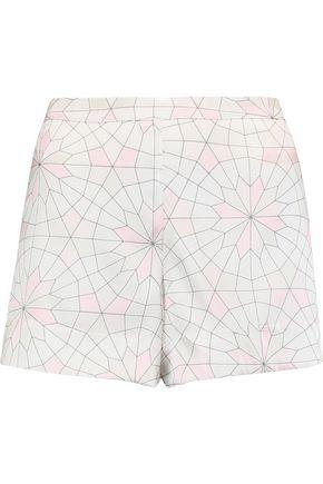 MIMI HOLLIDAY by DAMARIS Printed stretch-silk satin pajama shorts