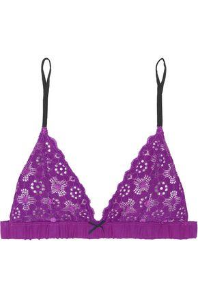 FLEUR DU MAL Soft-cup lace triangle bra