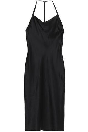 FLEUR DU MAL Silk-satin slip dress