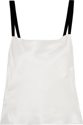 FLEUR DU MAL Silk-satin camisole