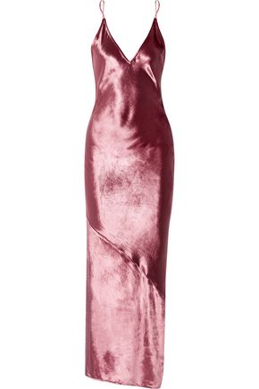 FLEUR DU MAL Duluxe open-back velvet maxi dress