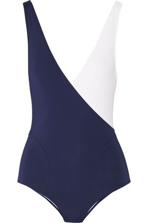 LISA MARIE FERNANDEZ Carine two-tone stretch-jersey bodysuit