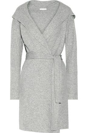 SKIN Waffle-knit cotton robe