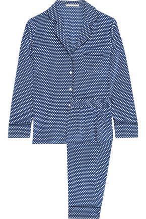 STELLA McCARTNEY Poppy Snoozing printed stretch-silk crepe de chine pajama set