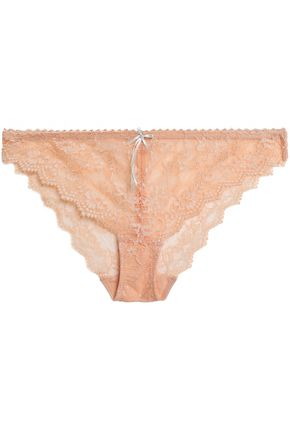 HEIDI KLUM INTIMATES Masquerade Muse low-rise satin-trimmed lace briefs