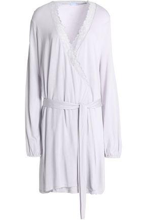 EBERJEY Lace-trimmed modal robe