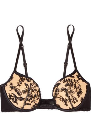 LA PERLA Autografo embroidered tulle push-up bra