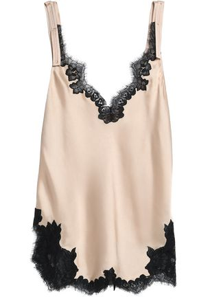 HELMUT LANG Scalloped lace-trimmed satin camisole