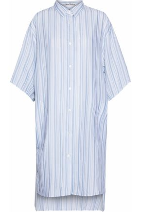 ACNE STUDIOS Oversized striped cotton-poplin shirt dress