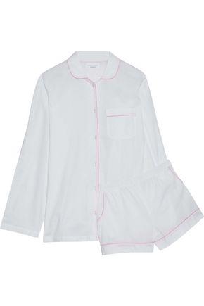 THREE J NYC Cotton-poplin pajama top