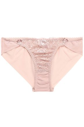 MIMI HOLLIDAY by DAMARIS Low-rise lace-paneled mesh briefs