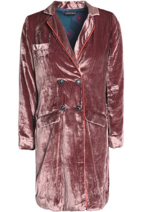 LOVE STORIES Double-breasted velvet robe