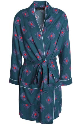 LOVE STORIES Printed twill robe