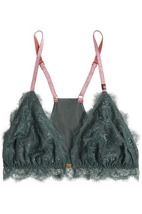 LOVE STORIES Corded lace and stretch-jersey soft-cup triangle bra