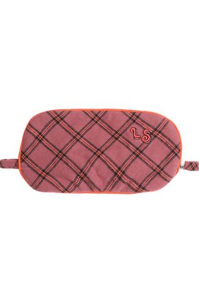 LOVE STORIES Rizzo embroidered checked flannel eye mask