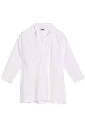 SLEEPY JONES Cotton-poplin pajama top