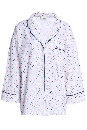 SLEEPY JONES Cotton-poplin fil coupé pajama top