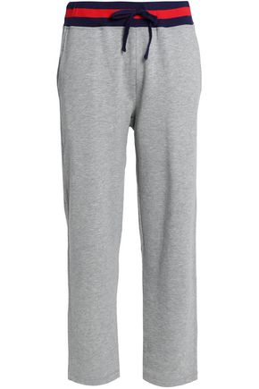 SLEEPY JONES Cotton-blend terry pajama pants