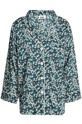 SLEEPY JONES Floral-print cotton-poplin pajama top