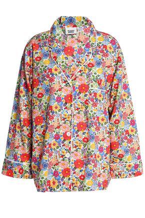 SLEEPY JONES Floral-print cotton-poplin pajama top