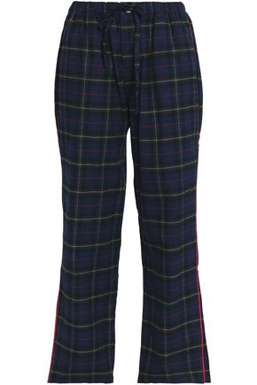 SLEEPY JONES Checked flannel pajama pants