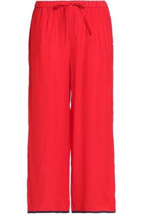 SLEEPY JONES Silk-crepe pajama pants