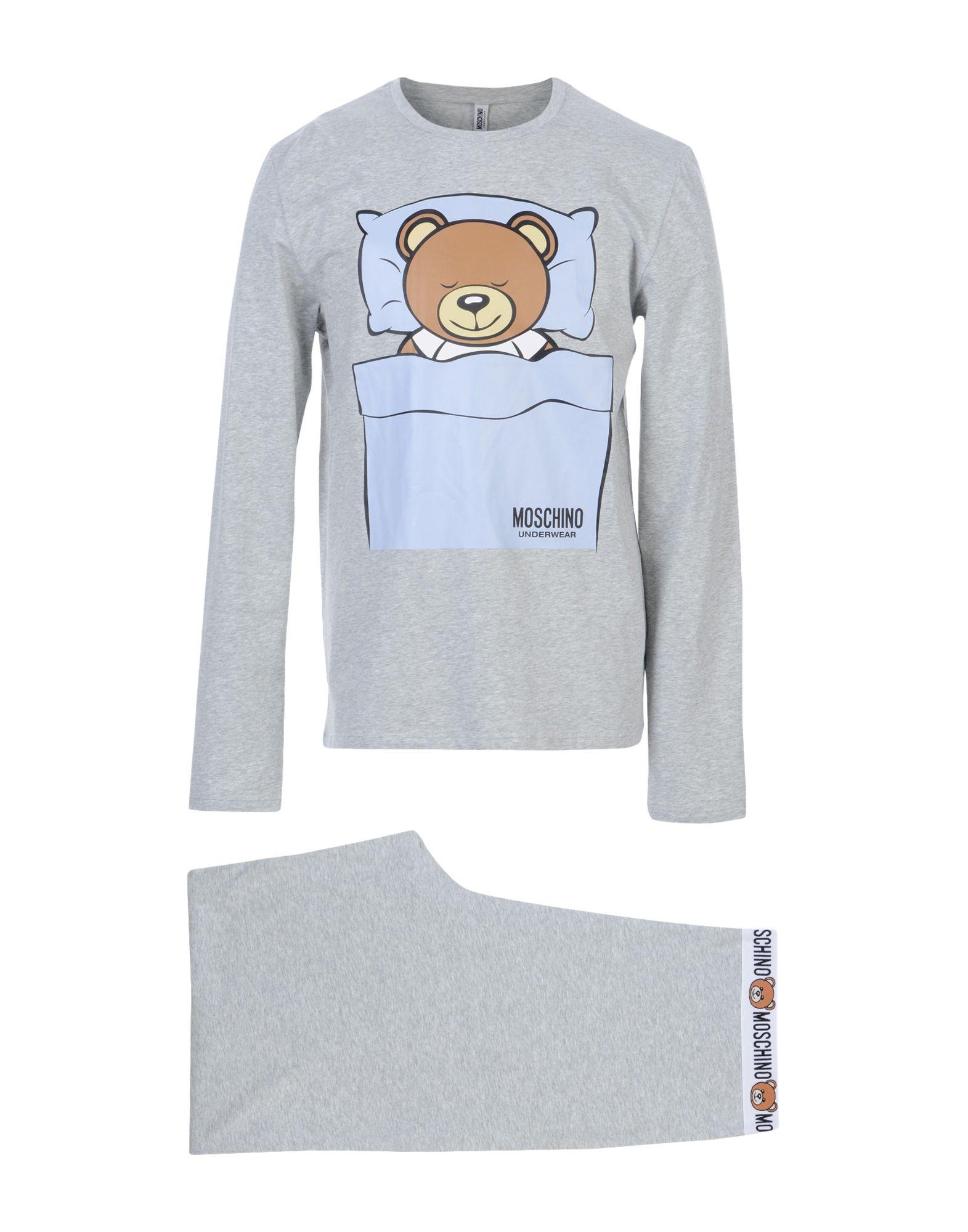 MOSCHINO UNDERWEAR Sleepwear in Light Grey