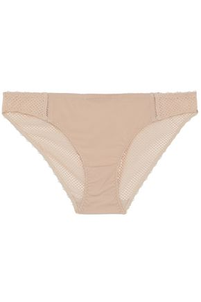 STELLA McCARTNEY Stretch-jersey and mesh low-rise briefs