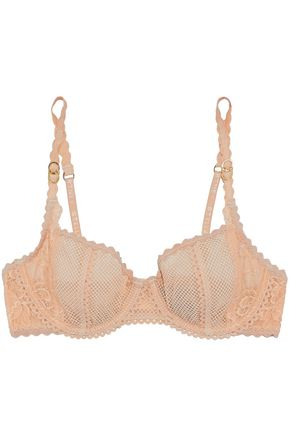 STELLA McCARTNEY Mesh and lace underwired bra